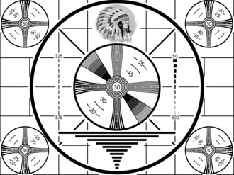 Indian-head test pattern - The RCA Indian-head test pattern.