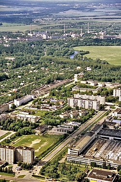 Bird's-eye view of Obninsk