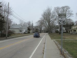 RI Route 216 northbound, Ashaway RI.JPG