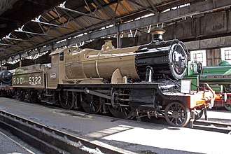 Railway Operating Division - GWR 4300 Class 5322, preserved in ROD khaki livery