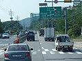 ROK National Route 48 Galsan Crossroad 1km Ahead(Westward Dir).jpg