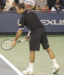 ef88c8e6b221 Bosworth Tennis - Radek Stepanek at the 2009 US Open with a Bosworth  ten-sided