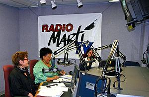 Radio y Televisión Martí - Radio Martí broadcast studio.