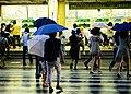 Rain near Tokyo subway (3903002372).jpg