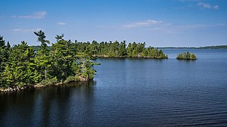 lake in Ontario, Canada and Minnesota, United States