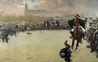 Ramon Casas - The Charge or Barcelona 1902