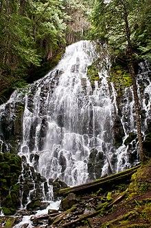List Of Waterfalls In Oregon Wikipedia - Waterfalls in oregon map
