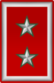 Rank insignia of tenente colonnello i.g.s. of the Italian Army (1916).png