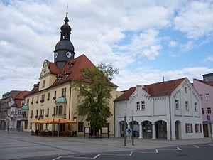 Borna, Leipzig - Image: Rathaus mit Alter Wache Borna