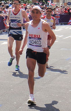 Raul Pacheco (Peru) - London 2012 Mens Marathon (cropped).jpg