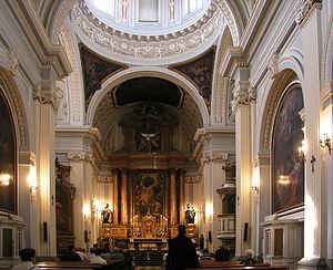 Royal Monastery of La Encarnación, Madrid - Interior of the church.
