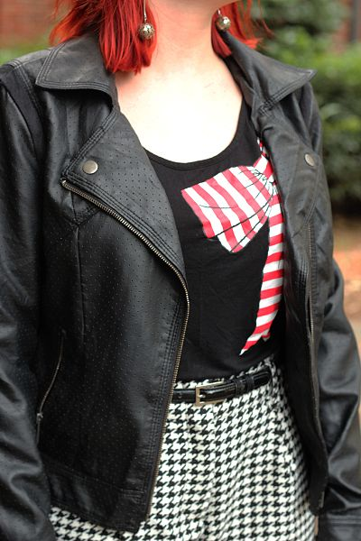 File:Red Bow Shirt, Black Faux Leather Jacket, and ...