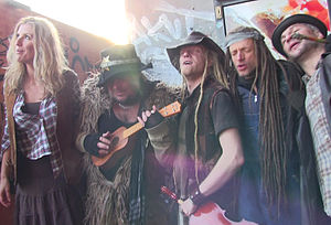 Rednex - Rednex during a video recording in Berlin, New Year's Day 2015. Whippy, Dagger, Joe Cagg, Ace Ratclaw and Boneduster Crock.