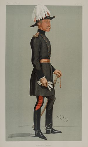 "Reginald Talbot - As depicted by ""Spy"" (Leslie Ward) in Vanity Fair, 22 July 1897. Caption reads Aldershot Cavalry."