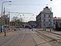 Reko TT Nádraží Holešovice - Trojská, ulice Partytzánská.jpg