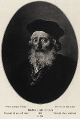 Oval Portrait of a Bearded Old Man