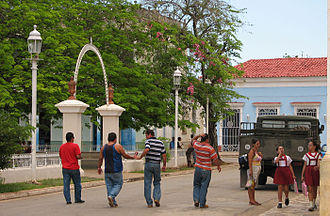 Remedios, Cuba - Pedestrians in Remedios