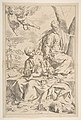 Rest on the flight into Egypt, Mary holding the infant Christ while St. Joseph hands him a fruit MET DP815023.jpg