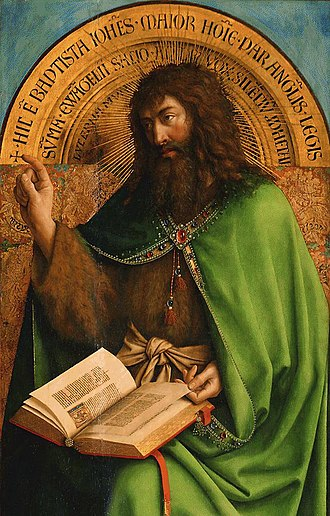 The Fountain of Life (painting) - Ghent Altarpiece: John the Baptist