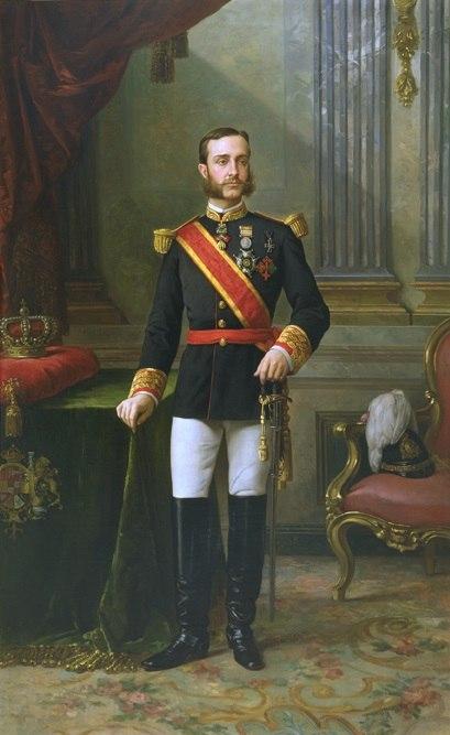 Retrato de Alfonso XII con uniforme de gala (Palacio de Aranjuez)