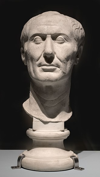 Julius Caesar - The Tusculum portrait, possibly the only surviving sculpture of Caesar made during his lifetime. Archaeological Museum, Turin, Italy