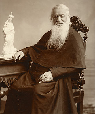 University of Notre Dame - The Very Rev. Edward Sorin, founder of the university, arrived at Notre Dame in 1842. The picture was taken around 1890.