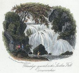Rhaiadyr-y-wenol or the Swallow Fall, Caernarvonshire
