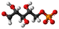 Ribose 5-phosphate anion ball.png