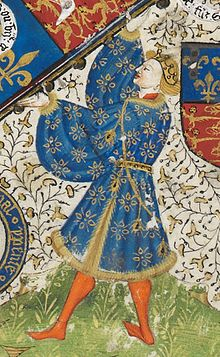 Richard, Duke of York, depicted in a contemporary manuscript