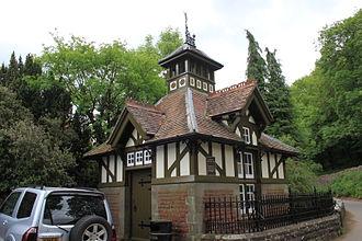 Burrington, Somerset - Gauge house on the brook in Rickford