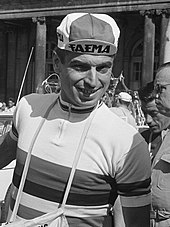 Black and white photograph of Rik Van Looy.