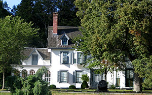 Ringwood, New Jersey - Ringwood Manor, with a mortar and part of the Hudson River Chain