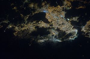 Rio at night from space