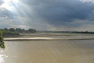 Shahjahanpur - River Garrah flowing through Shahjahanpur