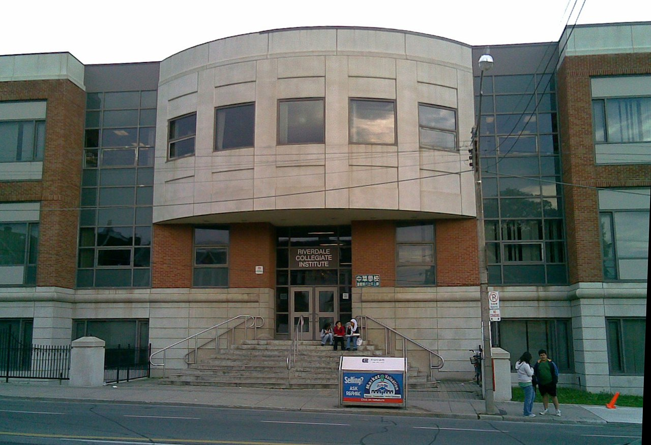 Riverdale Collegiate Schools on Gerrard Street in Riverdale Toronto.