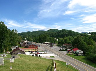 Carter County, Tennessee - U.S. 19E in Roan Mountain