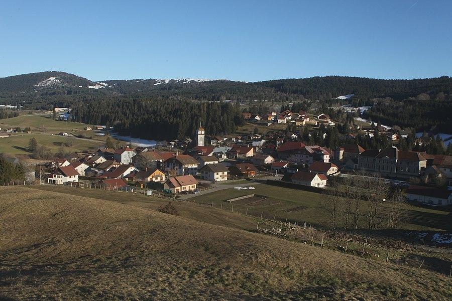 Vue de Rochejean (Doubs).