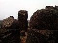 Rock cut Buddhist stupas at Bojjannakonda Monastic ruins.jpg