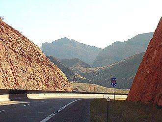 Interstate 15 in Arizona - I-15 in afternoon light