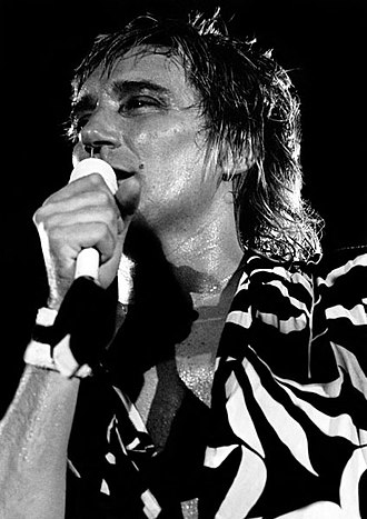 Rod Stewart - On stage in Dublin, 1981