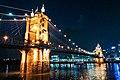 Roebling Suspension Bridge at night.jpg
