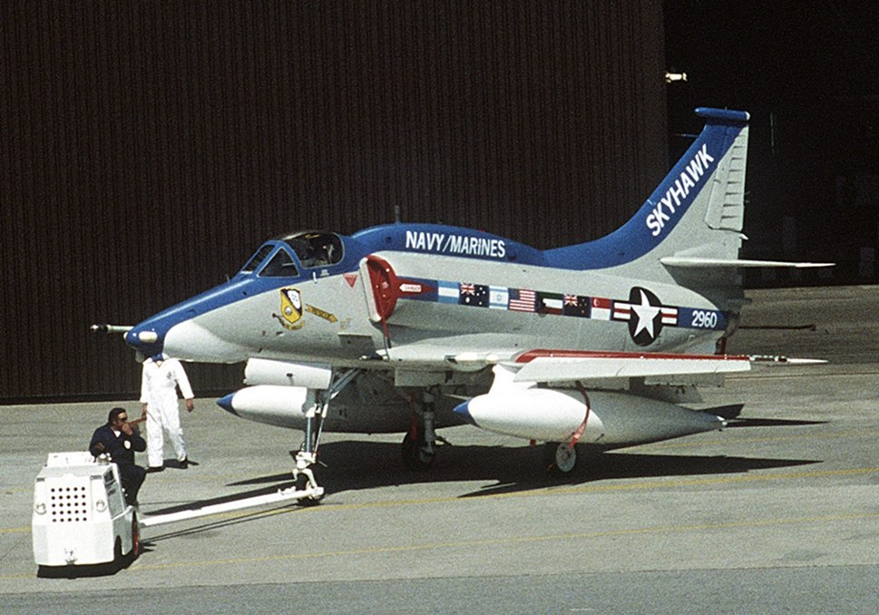 Rollout of the last Douglas A-4 Skyhawk built on 27 February 1979