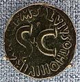 Roma, principato, asse di marcus salvius otho, 7 ac.JPG