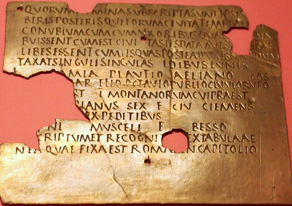 Roman military diploma Carnuntum 02