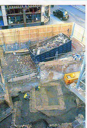 Romano-Celtic temple - Romano-Celtic temple revealed during excavation at 56 Gresham Street, London
