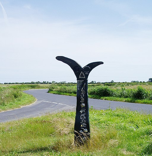 Romney Marsh National Cycle Network Sign