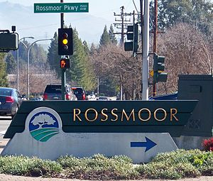Rossmoor, Walnut Creek, California - Image: Rossmoor Sign