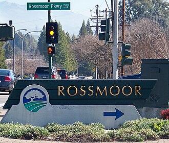 Rossmoor, Walnut Creek, California - Image: Rossmoor Sign