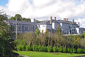 Mallow railway station - The station building from the south