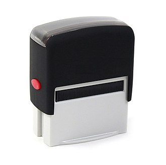 Rubber stamp - With modern laser-engraving technology, personalized rubber stamps are easy to use and it takes only minutes to make them in a store.